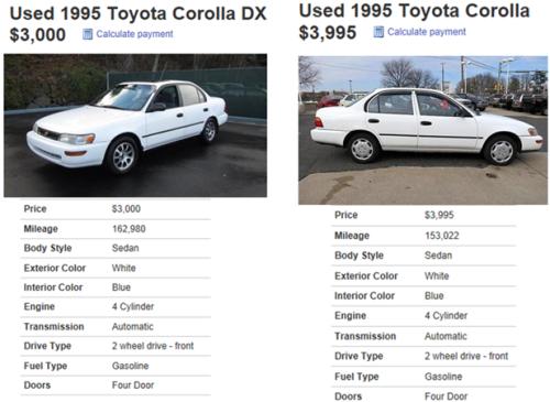 Corolla Compare